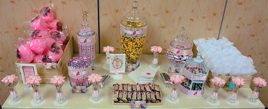 JOandJARS_CandyBuffet_Wedding_MBS_Pink_Yellow_Beauty_and_the_Beast
