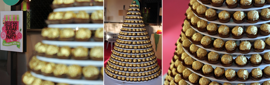 JOandJARS_CandyBuffet_ELLE_WhiteRabbit_FerreroRocher_Tower_ChristmasTree
